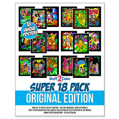 Super Pack of 18 Fuzzy Velvet 8x10 Inch Posters Original Edition
