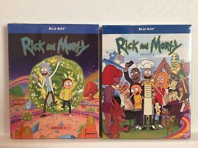 Rick and Morty Seasons 1 - 2 Blu-ray Set Free USPS Shipping