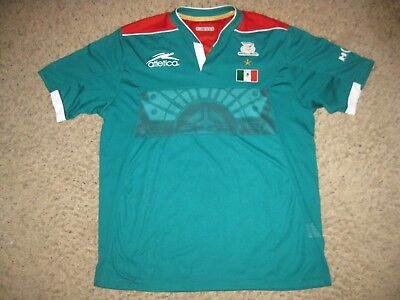 Mexico Atletica Mens Soccer Jersey Team XL FIFA World Cup Green - Red Team Rare