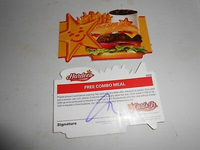 Lot of 10 HardeesCarls Jr- Combo Meal Cards