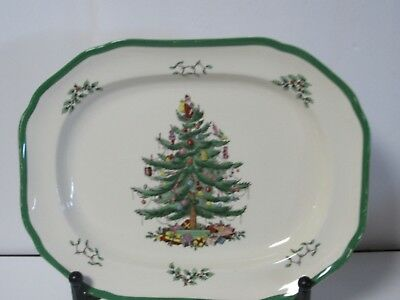 SPODE CHRISTMAS TREE S3324- Large Serving Platter Made in England