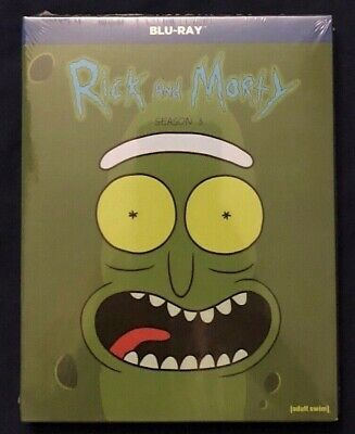Rick and Morty Season 3 Blu-ray Free USPS First Class Shipping