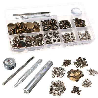 17mm Heavy Duty Snap Fasteners Press Stud Sewing Kit For Leather Craft Case