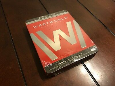 NEW  Westworld Season 14K Ultra HD Blu-ray Digital Limited Edition Steelbook