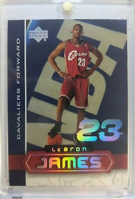 2003-04 UD SUPERSTARS LeBron James Rookie RC LBJ4 Hard to Find Limited Insert