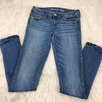 American Eagle Outfitters Womens 4 Long Skinny Jeans Stretch
