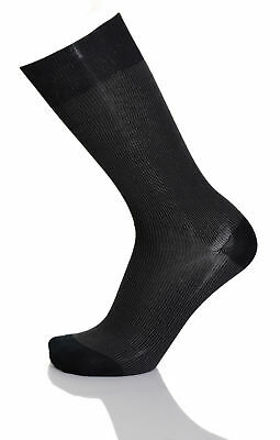 Vannucci Couture Mens Mercerized Cotton Blend Dress Socks With Hand Finished Toe