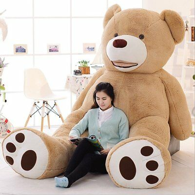 US 78 200cm2M Light Brown Giant Skin Teddy Bear Big Stuffed Toy(Only cover)