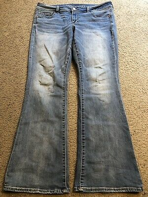 AMERICAN EAGLE OUTFITTERS Super Stretch KICK BOOT Cut Bootcut Jeans womens 16