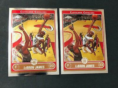 2006-07 Topps Chrome LeBron James 67 Cavaliers Lot of 2 Centered