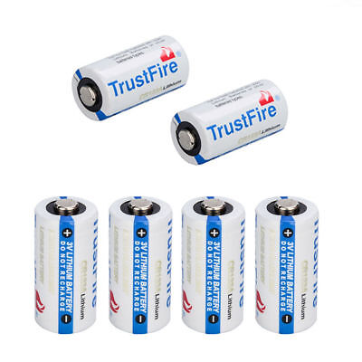 TrustFire 123A CR123A 3 Volt Lithium Batteries 6 Pack For Camera Flashlight!