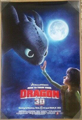 HOW TO TRAIN YOUR DRAGON MOVIE POSTER 2 Sided ORIGINAL 27x40 JAY BARUCHEL