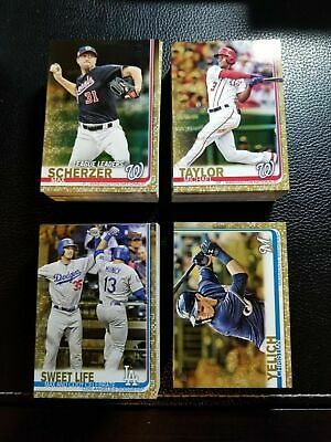 2019 Topps Series 1 GOLD BASE PARALLEL 2019 You Pick Your Card RC LL WS