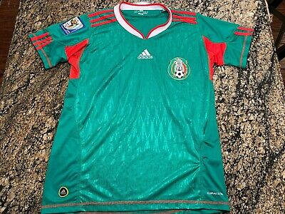 Adidas Mexico 2010 FIFA World Cup South Africa Futbol Soccer Jersey Mens Small S