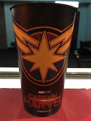 Captain Marvel 44oz Plastic Theater Cup Brand New