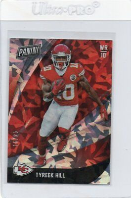 2018 18 TYREEK HILL PANINI BLACK FRIDAY CRACKED ICE PARALLEL ED 1625-CHIEFS