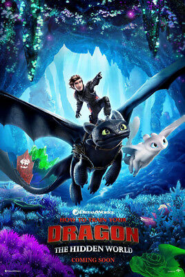 HOW TO TRAIN YOUR DRAGON 3 THE HIDDEN WORLD MOVIE POSTER DS ORIGINAL B 27x40