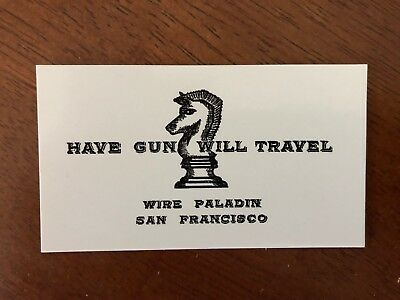 HAVE GUN WILL TRAVELPaladin - 30 Business card size cards Amazing quality