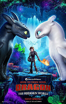 HOW TO TRAIN YOUR DRAGON 3 THE HIDDEN WORLD MOVIE POSTER DS ORIGINAL ADV 27x40