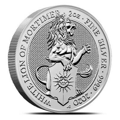 2019 Great Britain 2 oz Silver Queens Beasts Yale Coin -9999 Fine IN-STOCK