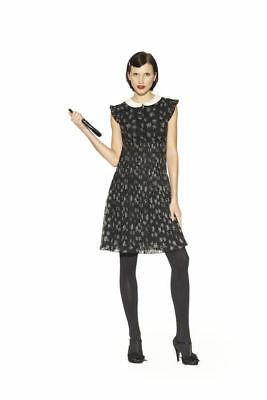 Kate Young Shimmering Star Black Dress  Peter Pan Collar Cap Sleeves small or me