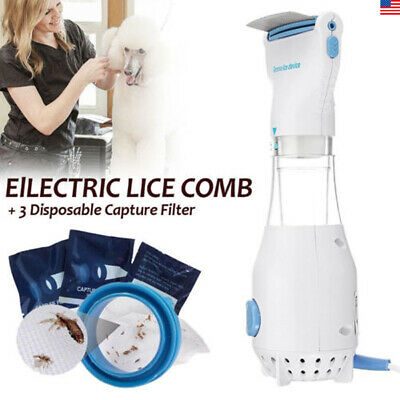US Electric Lice zapper Electronic Head Pro V-comb Kills Pet Headlice US Plug