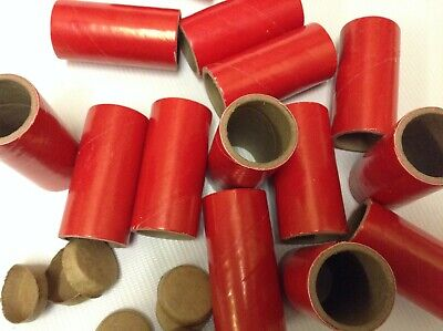 25 FIREWORKS Kraft Tubes Red 1 x 2-12 x 18  plus 50 end caps