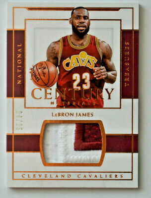 2016-17 LEBRON JAMES National Treasures Game Worn Patch SP d 425 NM-MT Cavs