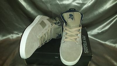 SUPRA BANDIT KHAKI SUEDE TWILL MENS SHOES SIZE 12 NEW IN BOX