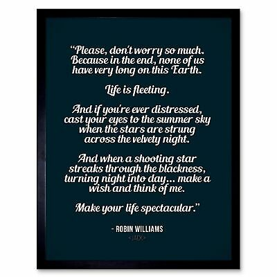 QUOTE TYPE TEXT GRAPHIC MOVIE JACK LIFE SPECTACULAR 12X16 INCH FRAMED ART PRINT
