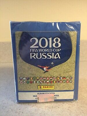 PANINI 2018 FIFA WORLD CUP RUSSIA SOCCER STICKERS SEALED BOX OF 50 PACKS