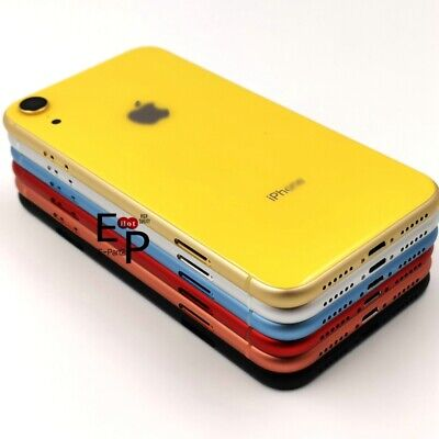 For iPhone XR Housing Back Glass Chassis Frame Battery Door Cover - Buttons NEW