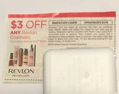 5 x 3 off any Revlon Cosmetic Coupon Expiration date 612019