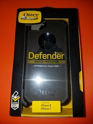 New OtterBox Defender For Apple iPhone 7 - iPhone 8 Case Black SHIPS NOW