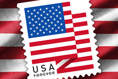 10 Coils  1000 Stamps USPS Forever 1st Class Postage US Flag 2018  Sealed Roll