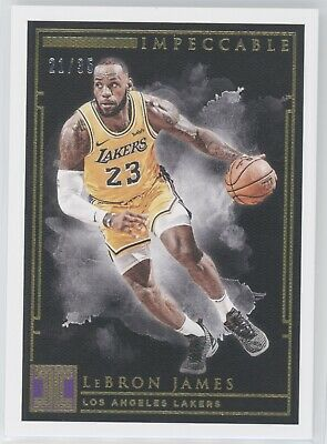 LEBRON JAMES 2018-19 PANINI IMPECCABLE GOLD PARALLEL 2135 LAKERS