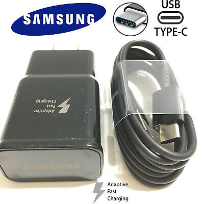 New Original Samsung Galaxy S9 S8plus Note 8 Fast OEM Wall Charger-Type C -CABLE