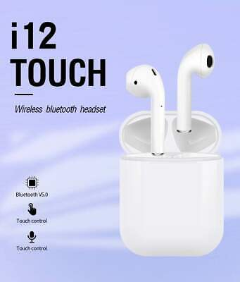 i12 Touch TWS Wireless Earbuds Bluetooth 5-0 Earphone For Apple Airpods iPhone