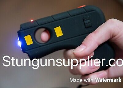 Defender Stun Gun Tactical High Powered LED Light W Safety Switch and Case Blac