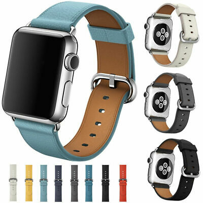 Leather Band Bracelet Strap For Apple Watch Series 4 3 2 1 38mm40mm42mm44mm