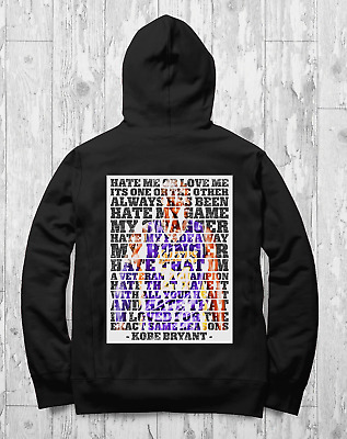 Kobe Bryant NBA LA Lakers Inspirational Quotes Hoodie All Sizes