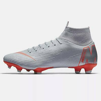 Nike Superfly 6 Pro FG AH7368-060 Wolf Grey Crimson Red Mens Soccer Cleats NEW
