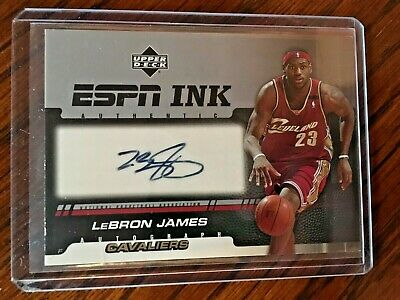 2005 Lebron James Auto Upper Deck ESPN Ink