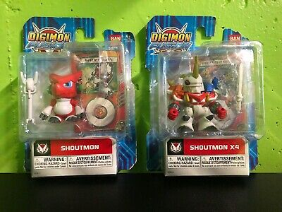 NEW Bandai Digimon Fusion Shoutmon And Shoutmon x4 Action Figure New In Package