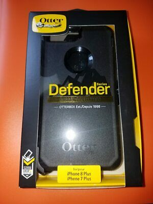 New OtterBox Defender For Apple iPhone 7 PLUS - iPhone 8 PLUS Case Black FASTSHP