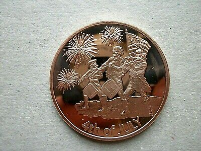 4TH OF JULY 1oz COPPER ROUND COIN
