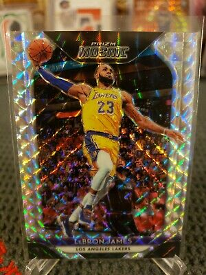 2018-19 LeBron James Panini Prizm Mosaic Silver LA Lakers  65