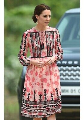 Topshop embroidered dress US 4 As Seen On Kate Middleton