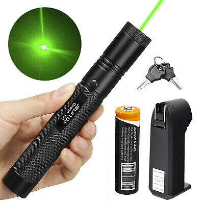 Military 532nm 5mw 301 Green Laser Pointer Lazer Pen Visible Beam -18650-Charger