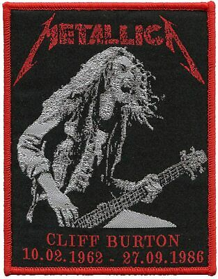Metallica Band Cliff Burton patch t-shirts Jeans Iron on Clothing Woven Badge